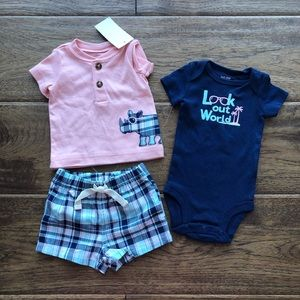 Carter's | 3 Piece Rhino Outfit